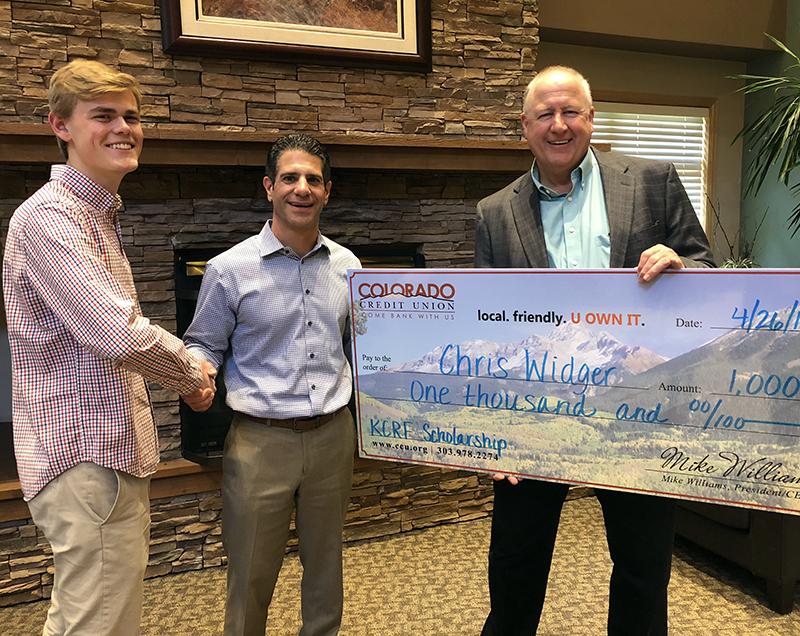 Christopher Widger, 2018 Ken Caryl Ranch Foundation Scholarship Recipient